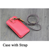 New PU Leather Phone Pouch for Blackberry KEY 2 Case with 48cm Strap Handmade Bag Fundas Fashion Sleeve for Blackberry Key2