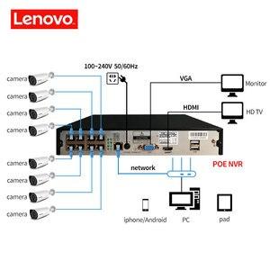 Image 3 - LENOVO 1080P POE NVR Kit 2.0MP HD CCTV Security camera System Audio monitor IP Camera P2P Outdoor Video Surveillance System