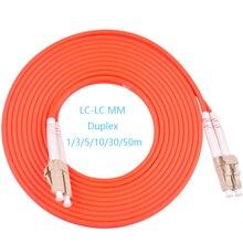 10pcs LC UPC TO LC UPC fiber optic patch cord duplex multimode 62.5/125um 2.0mm orange cable optical fibre jumper цена