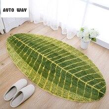 superfine fiber Banana leaves entrance door mat Foot pad Bedroom kitchen carpet Bedside mats free shipping