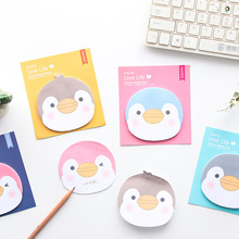 4pcs Cute penguin sticky note set Mini memo pad Diary bookmark planner sticker Kawaii Stationery Office School supplies F373 недорого