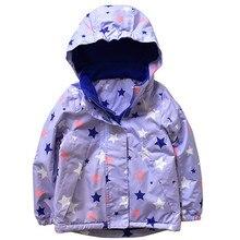 Girls plus velvet jacket large childrens hooded windbreaker waterproof warm 2018 autumn wea