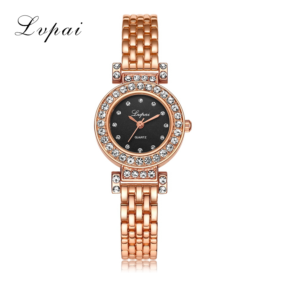 Lvpai Luxury Women Watches 2017 Crystal Bracelet Wristwatches Fashion Classic Ladies Watches Fashion Wrist Dress Quartz Watch luxury women bracelet watches fashion women dress fashion womens ladies watches silica band analog quartz wrist watch