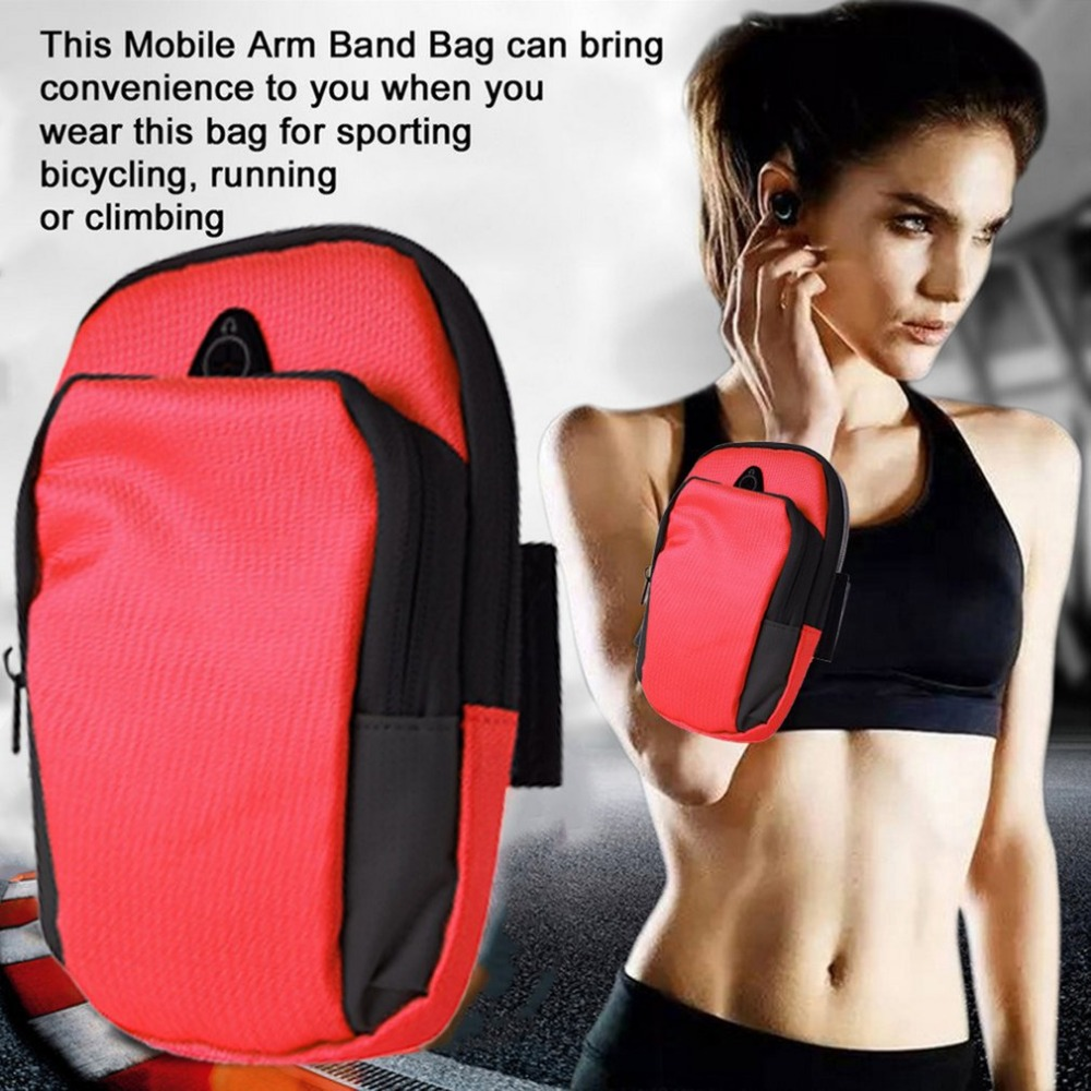 Women Men 5.5inch Sports Running Jogging Gym Protective Phone Bag Armband Arm Band Holder Waterproof Bags For Mobile Phones