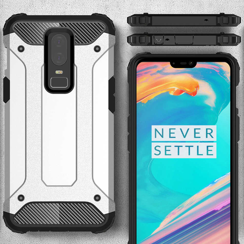 huge discount a248a dfde5 For Oneplus 6 Six Case Hard Rugged Case For Oneplus 5T funds Hybrid Armor  Phone Cover Double Protect coque for Oneplus 5 case