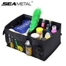 Car Trunk Storage Bag Box Oxford Foldable Organizer Travel Food Tools Back Seat Auto Stowing Tidying Automobile Accessories