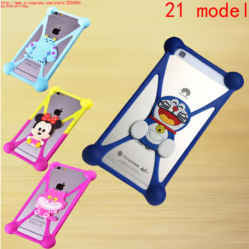 1pcs/lot 3D Cartoon Stitch Minnie Mouse Case Silicone Soft Skin CASE For Alcatel One Touch Star 6010 OT-6010 6010D Cover