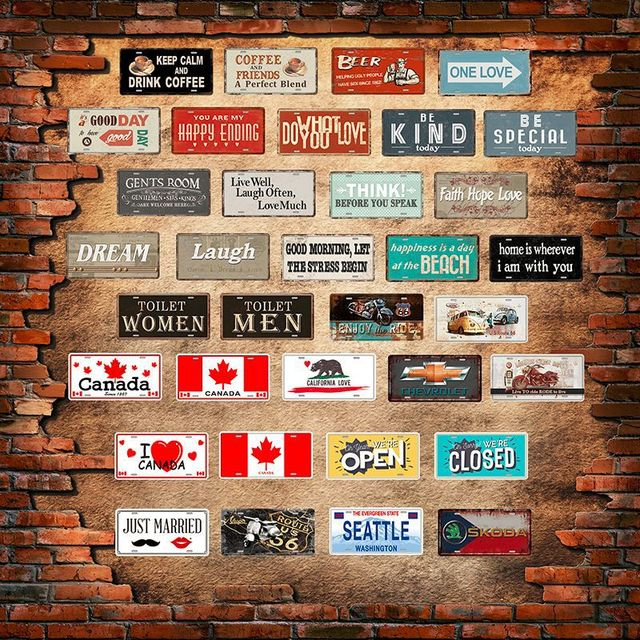 ZJY Think! Before You Speak Tin Signs Bar Pub Cafe Home House Wall ...