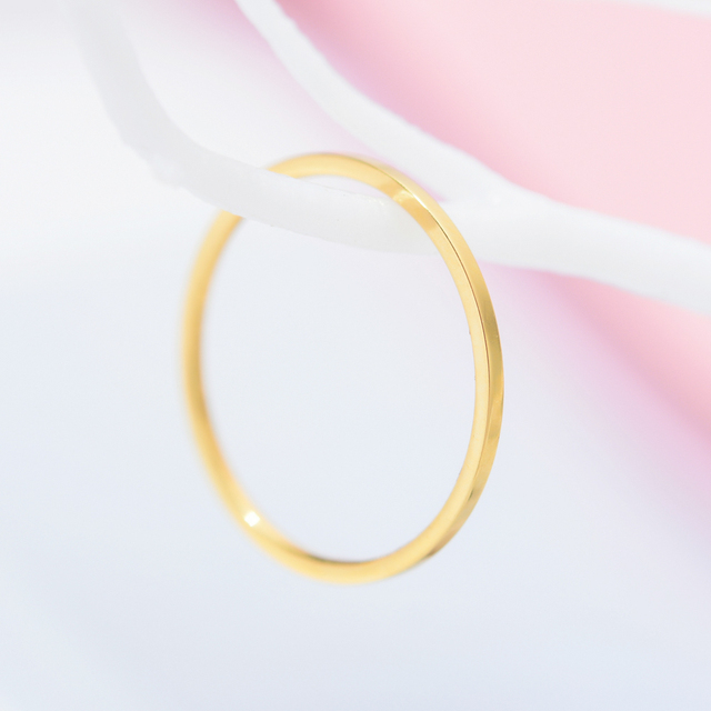 ZMZY Round Rings For Women Thin Stainless Steel Wedding Ring Simplicity Fashion Jewelry Wholesale bijoux 1mm 2
