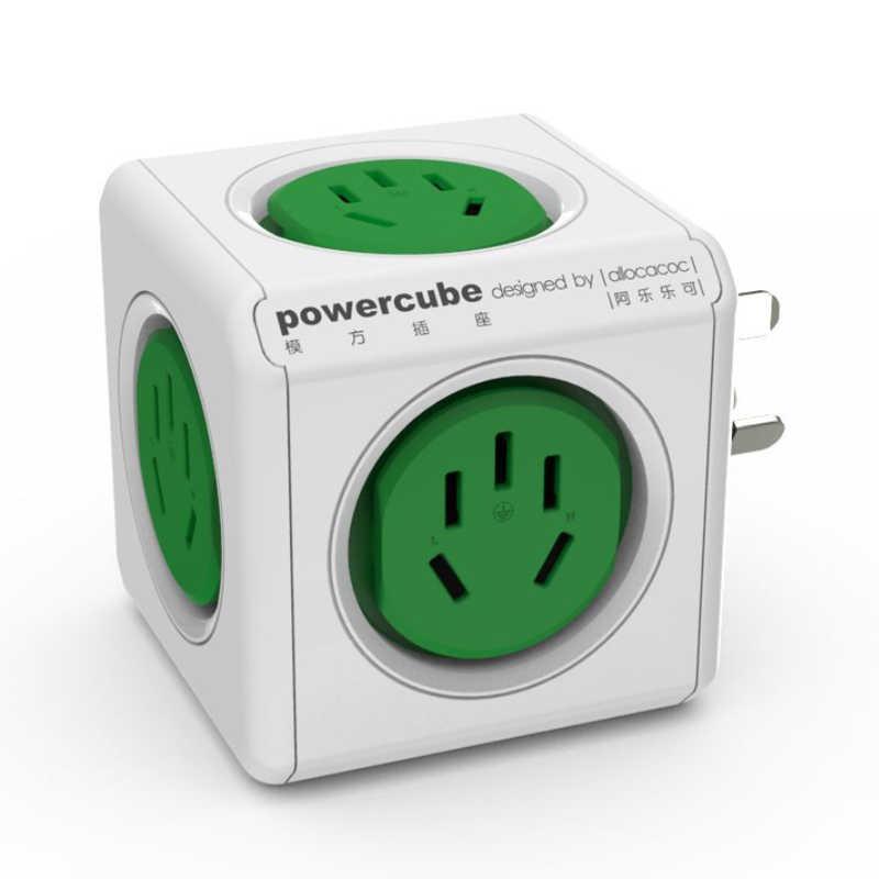 Allocacoc podróży CN AU przejściówka dla australii powercube listwa zasilająca inteligentne gniazdo elektryczne elektryczny rozszerzenie wielu wtyczka