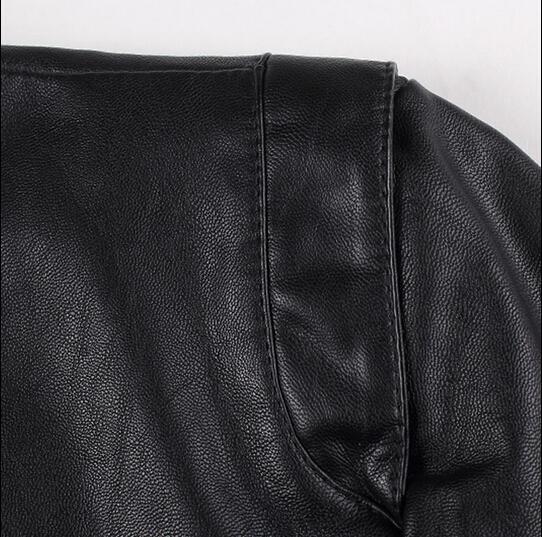 Matelassée bleu Noir marron Col Montant Taille Mâle Automne Cuir 2019 Décontracté En Grande Veste Tendance Slim Hommes zxaw6Z