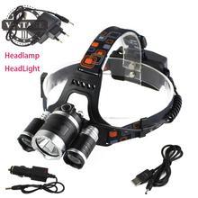 8000lm 3xxm-l2 светодиодные фары фара глава факел + 18650 Батарея + AC/USB/Car Зарядное устройство кемпинг Рыбалка Велоспорт скалолазание