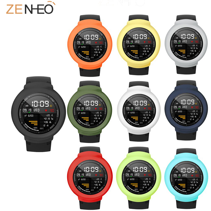Soft Silicone Protective Case for Xiaomi Huami Amazfit 3 Verge Watch Protector Frame smart watch Accessories