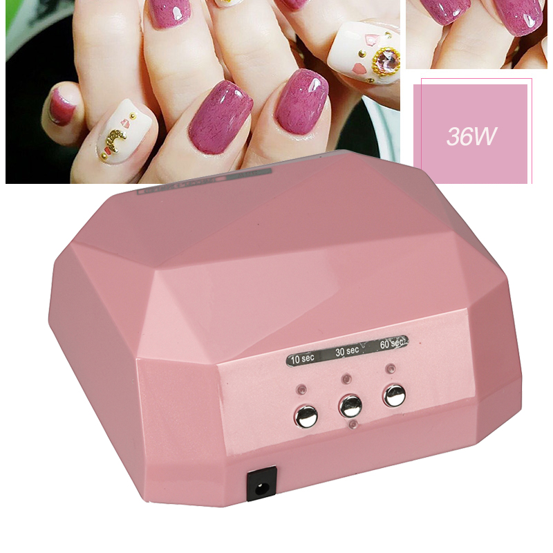 Suelina Nail Dryer FREE SHIPPING Sensor 36W Diamond Shaped LED CCFL Curing for UV Gel Nails