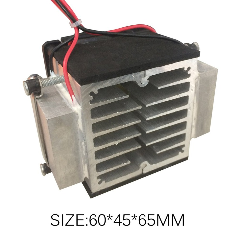 Semiconductor Cooling Plate Small Air Conditioner Heat Dissipation Module Portable 12V Refrigerator Production Electronic KitSemiconductor Cooling Plate Small Air Conditioner Heat Dissipation Module Portable 12V Refrigerator Production Electronic Kit
