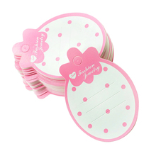 50pcs Strawberry Jewelry Cardboard Shape Paper Kids Hair Clip Card Hairpin Barrette Display Cards