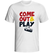 Come Out And Play With Me T Shirt Childhood Video Console Game Pop Casual Punk T-shirt Hip Hop Cool Fashion Unisex Tee