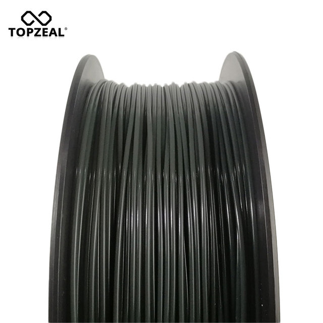 TOPZEAL Newly PLA Tri Temp Change Color Lava 3D Printer Filament, Black to Red to Yellow, 1KG 1.75mm with Tolerance +/-0.05mm