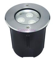 AC85 265V 9W Outdoor Underground Lamp Uplighting LED inground light IP67 landscape ground lighting 8pcs/lot