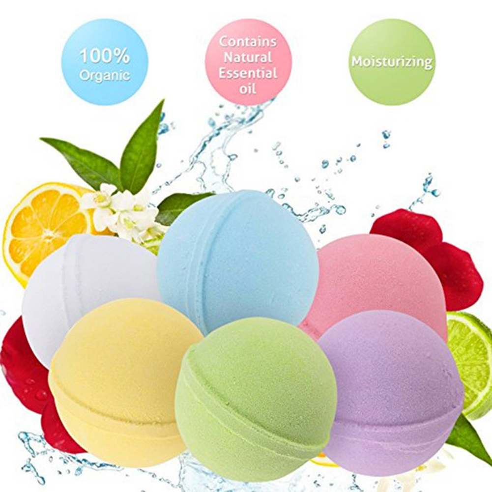 8pcs Organic Bath Bombs Body Essential Oil Natural Bubble Ball Rose Lavender SPA Stress Relief Exfoliating Bath Bombs ball