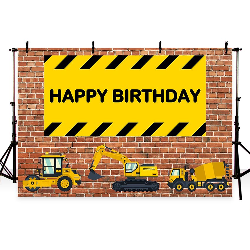 Background For Birthday Photograph Construction Party