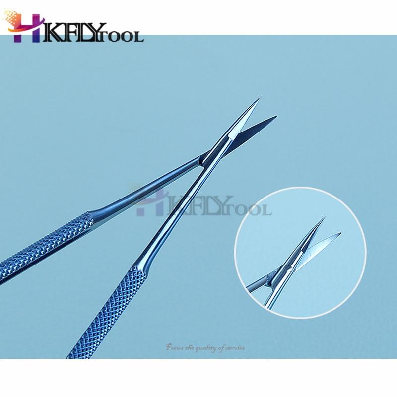 Микроскопические инструменты 12,5 см Микро ножницы, конъюктива зубчатые, щипцы, датчики, крючки, лопатки, щипцы