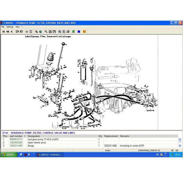 For Linde Lindos Parts Catalog Epc For Linde Forklift Trucks on linde forklift parts diagram