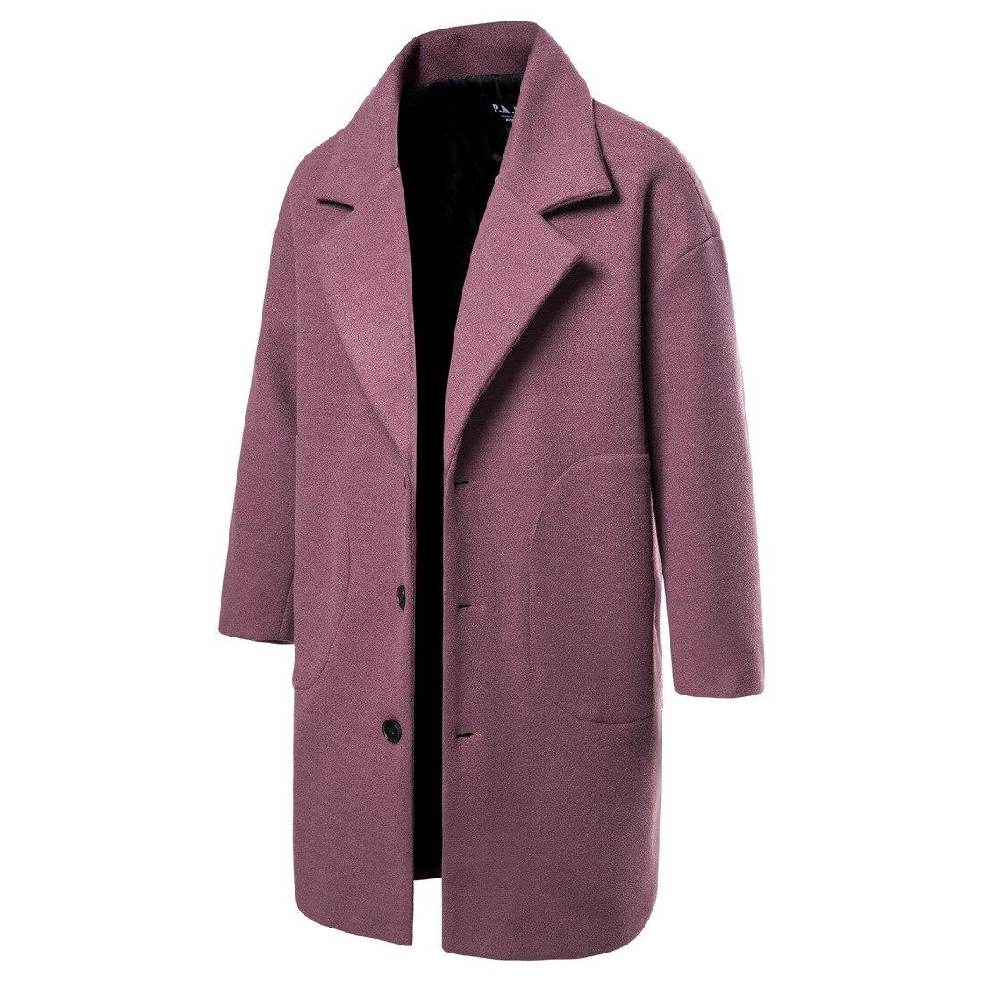 Windbreaker men's mid-length Korean woolen coat autumn and winter handsome woolen coat men's jacket