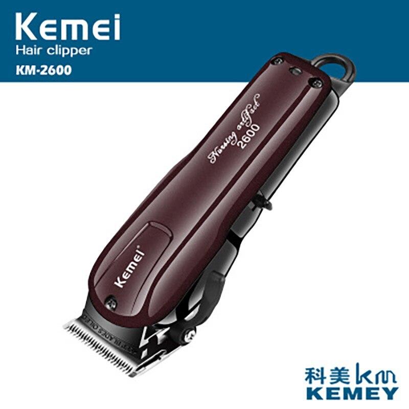 KM2600 profession tondeuse à cheveux électrique Rechargeable professionnel tondeuse à cheveux rasoir rasoir barbe tondeuse livraison directe lavable