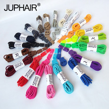 New 1 Pair Round Fashion No Tie Shoelaces Locking Shoes Laces Elastic Shoelaces for Shoestrings Jogging Triathlon Sports Fitness