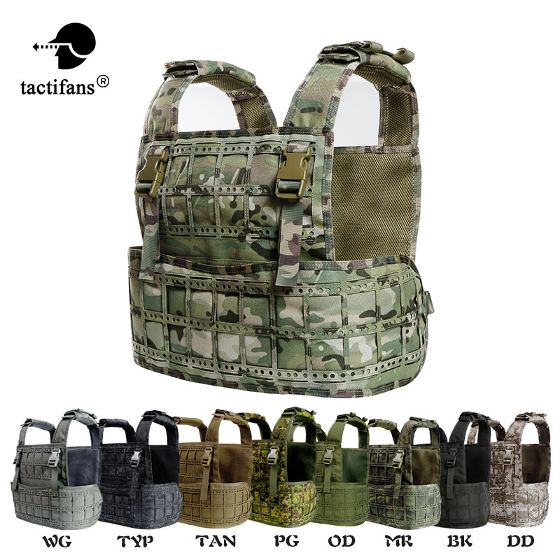 Sinairsoft New Design Lightweight Laser Cut Tactical Vest Plate Carrier Chest Rig AWPC Molle Pals 1000D Nylon Padded Baldric grey sleeveless design chest cut out top