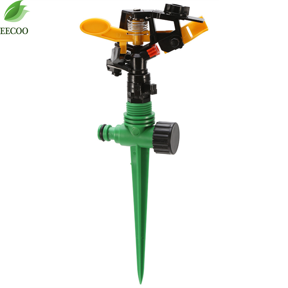 360 degree garden lawn sprinkler grass garden adjustable for Aspersores de riego para jardin