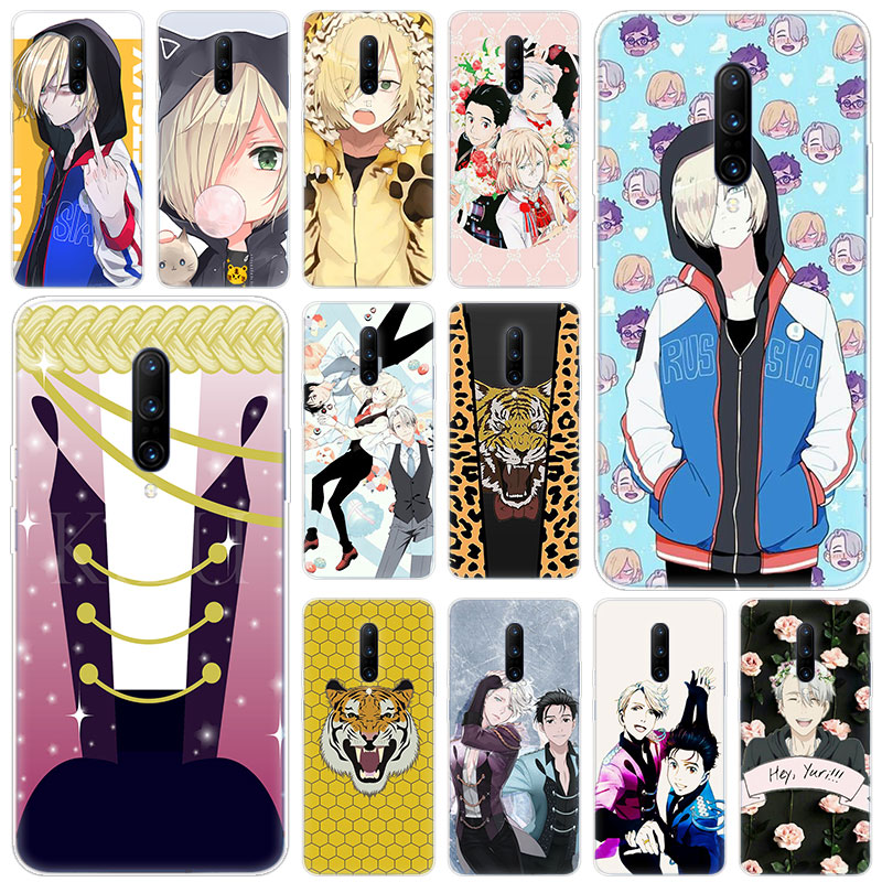 Hot Anime YURI on ICE Soft Silicone Fashion Transparent Case For font b OnePlus b font