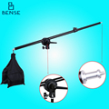 78-138cm Top Light Telescopic Boom Arm w/ Weight Bag Sandbag for flash Video light E27 studio softbox