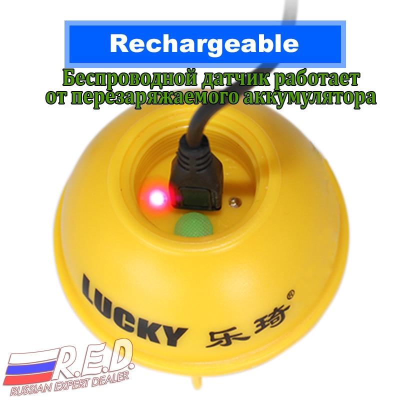 Trouveur de poisson portatif sans fil de Version russe de LUCKY FFW718LA 45 M/135FT pour la rivière de mer de lac - 5