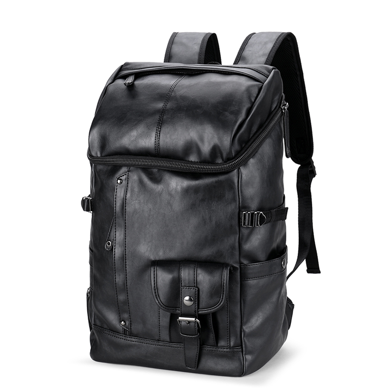 2017 Cool Mens Backpacks Man Rucksack Bag Student Schoolbags Men Travel Leather Backpack Bags Black Bagpack best laptop backpacks cool mens custom rucksack back pack womens college computer backpack bags for man business travel work