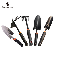Prostormer 5pcs/set Garden Tool Set Mini Garden Portable Shovel Tools Shovel Rake Spade Garden Plant Tool Set Kids Outdoor Tools