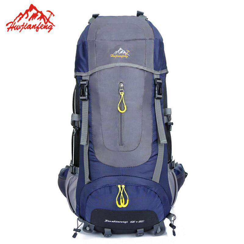 70L Waterproof Outdoor Travel Bags Hiking Backpack Camping Hiking Sport Bag Mountaineering Backpack Nylon Climbing Rucksack 75l waterproof climbing hiking backpack rain cover bag women men outdoor camping climbing bag mountaineering rucksack