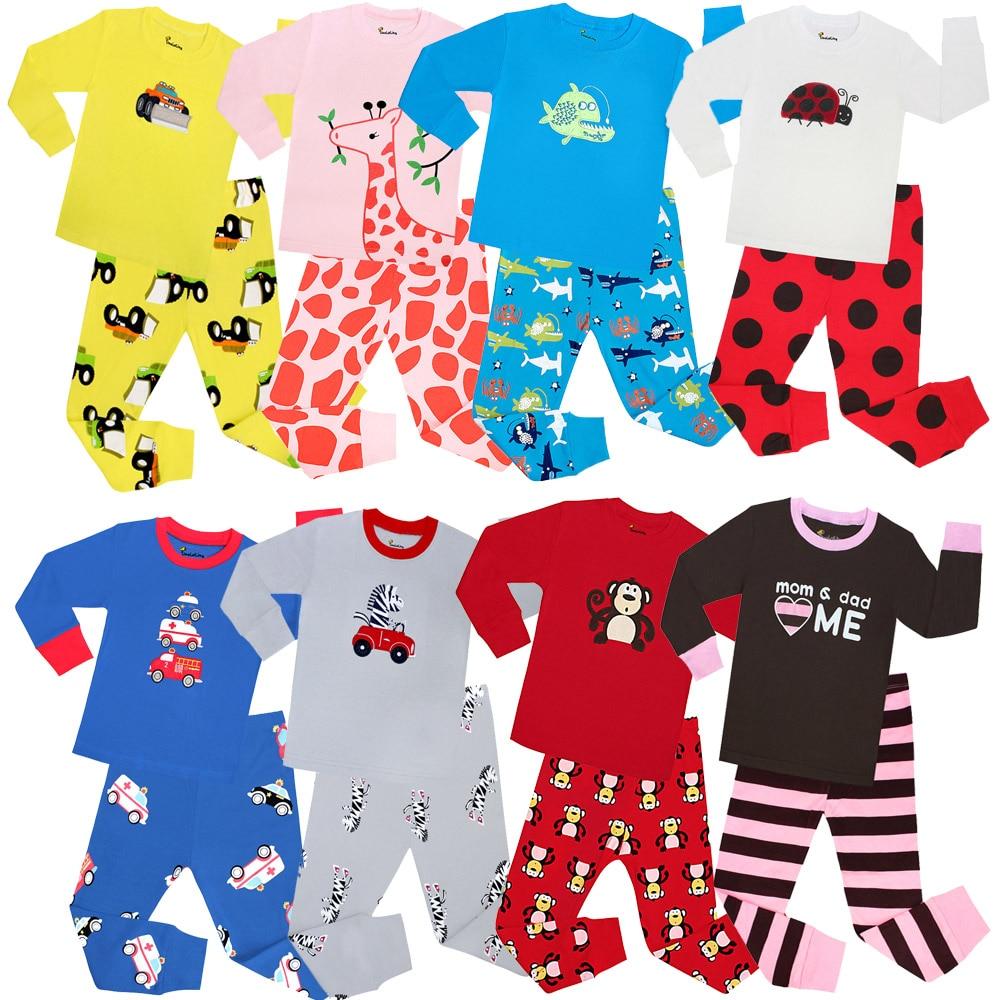 Selling Children Full Sleeve Cotton 100 Pajamas Boys Pyjamas Kids Pajamas Sets Children Sleepwear Baby Clothing For 1-8Year