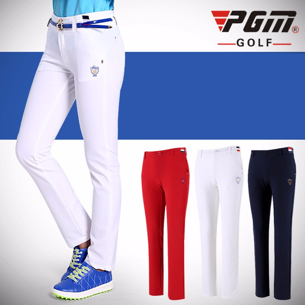 PGM Women Golf Pants Trousers Sportwear female Slim Golf Tennis Pant Quick Dry Lady Full Length Trouser Highly-elastic Sports
