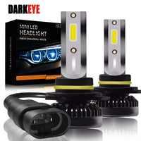 Newest H7 LED Ultra Mini Car Lights Bulbs H8 H9 H11 Led H7 H1 Head Lamps Kit 9005 HB3 9006 HB4 Auto 12V led Fog Lamps Head light