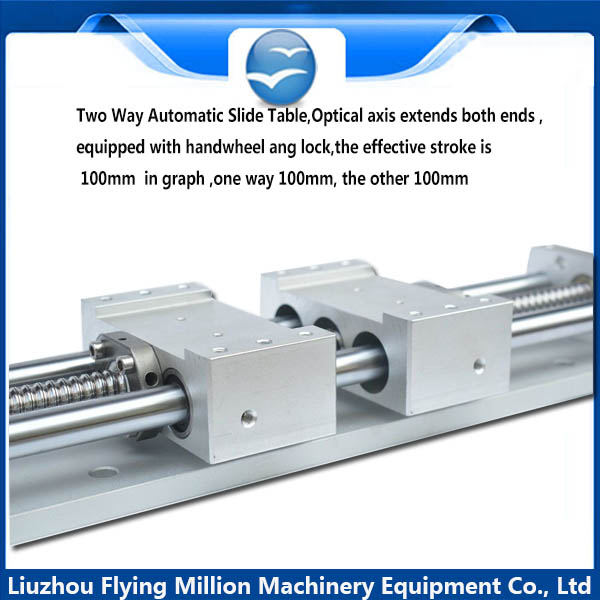 China Manufacturer  Two-way rotary screw linear guide module optical axis sliding table