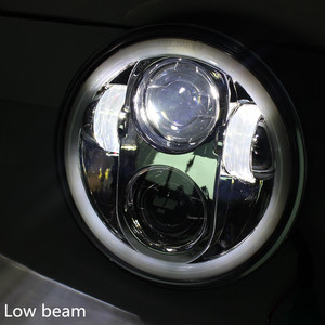"Image 4 - 5 3/4 ""5.75 אינץ אופנוע Moto LED מקרן מלא Halo פנס עבור Dyna Sportster Softail"