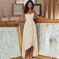 Вечернее Платье Милая Кружева Pleat Высокий Низкий Шифон Индивидуальные robe de кафтан-кафтан Платья