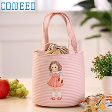 Lovely Girl Thermal Insulated Box Tote Cooler Bag Bento Pouch Lunch Storage BagLevert Dropship feb24