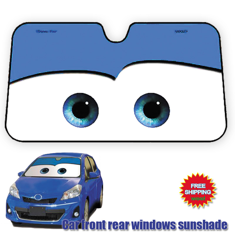 130X70cm Car Sunshade Blue Sun Shade Windshield Visor Cover Front Rear Window UV Protection Shield Film Reflective Car Styling
