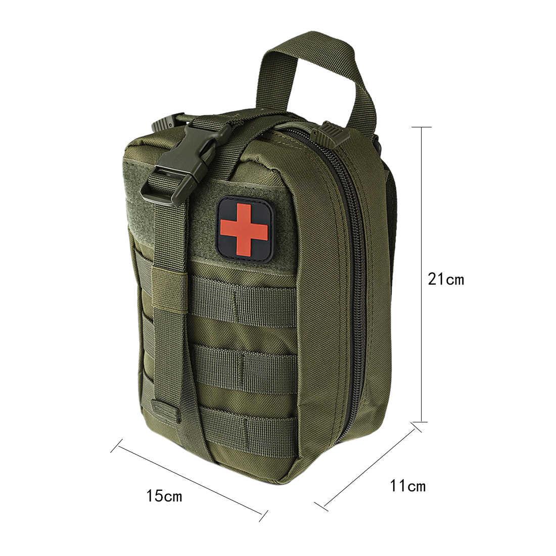 2019 ניילון צבאי טקטי MOLLE Battlefield רפואי תיק הצלה חבילה עבור חיצוני ציד אפוד מותניים פאוץ-זית חדגונית