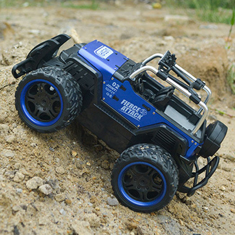 2.4G Remote Control Car 1:14 Truck Off-Road Climbing Auto Toy 4Wheel Drive Brushed Electric RC Car Educational Toys for Children