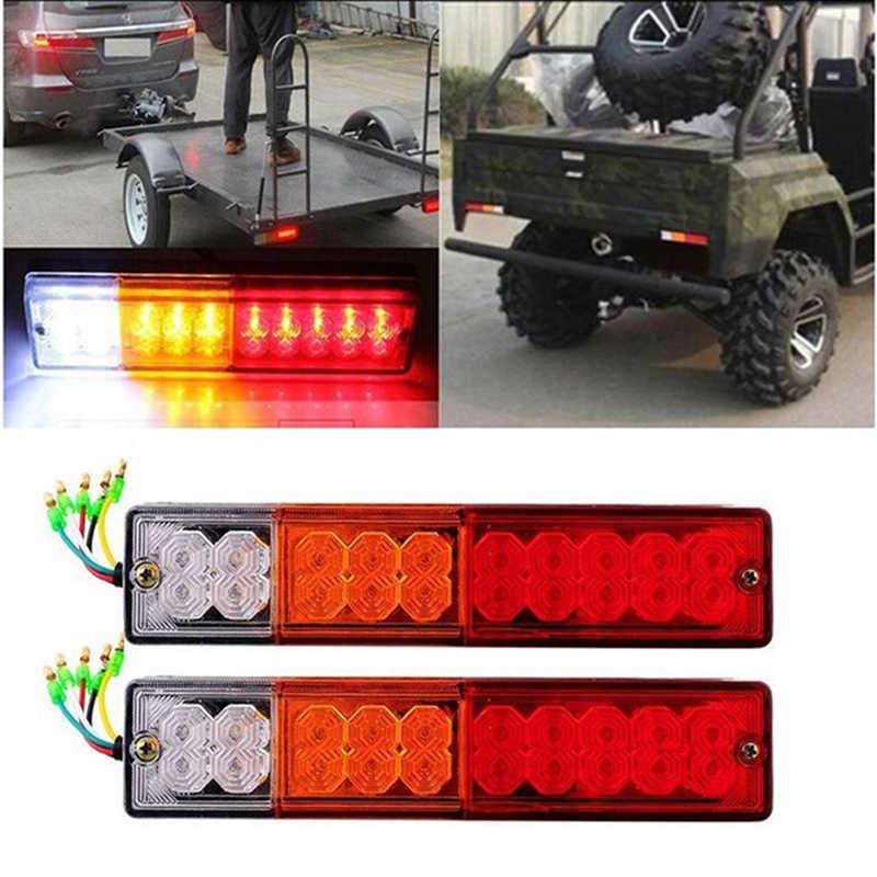 1 Pcs 20 LED 12 V Tahan Air Truk Trailer LED Ekor Lampu Lampu Kapal Pesiar Mobil Belakang Reversing Menjalankan Rem Turn lampu