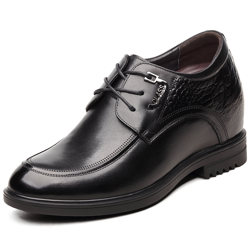 Newest Classic Oxford Leather Height Increasing Elevator Shoes Increase Mens Height 3.94 Inches Invisibly